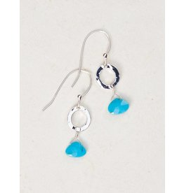 Holly Yashi Turq/Silver Morning Tide Earring
