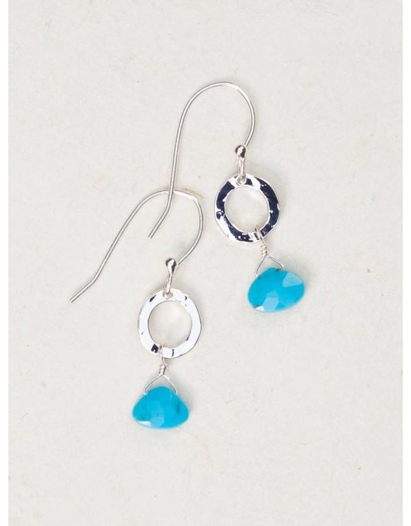 Holly Yashi Turq/Silver Morning Tide Earring
