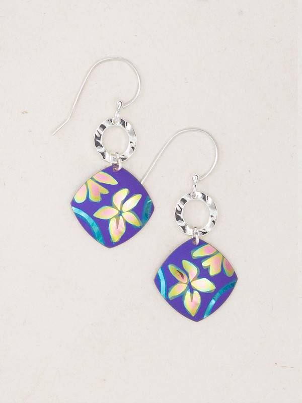 Holly Yashi Purple Water Lily Earrings