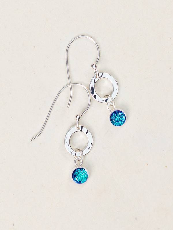 Holly Yashi Holly Yashi Lagoon/Silver Bonita Drop Earrings