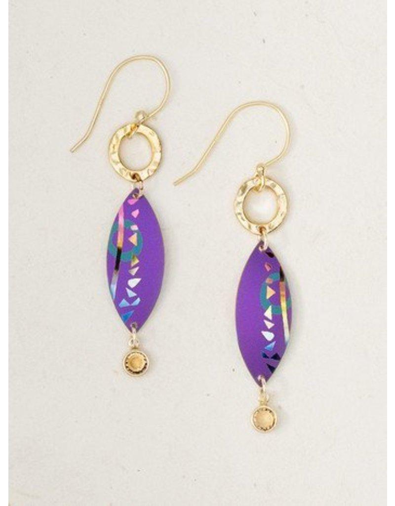 Holly Yashi HY Purple Sanibel Earrings