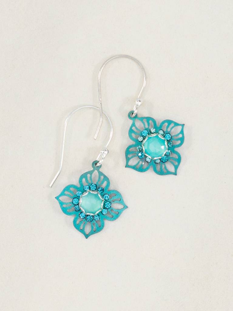 Holly Yashi Calcite/Ocean Bella Flora Earrings