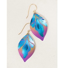 Holly Yashi Peach/Turq Desert Breeze Earring