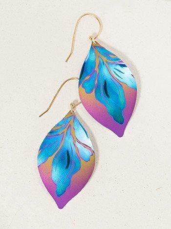 Holly Yashi Peach/Turq Desert Breeze Earring