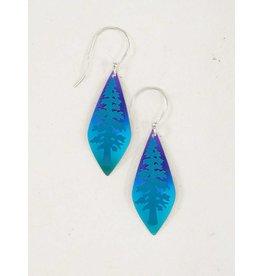 Holly Yashi Turqoise/Purple Giving Tree Earrings