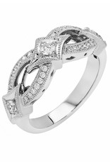 14K White Gold .45ct Diamond Infinity Band