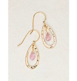Holly Yashi Watermelon Quartz/Gold Celeste Earring