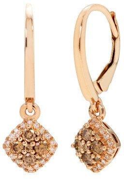 14K Rose Gold .55ct Diamond Earrings