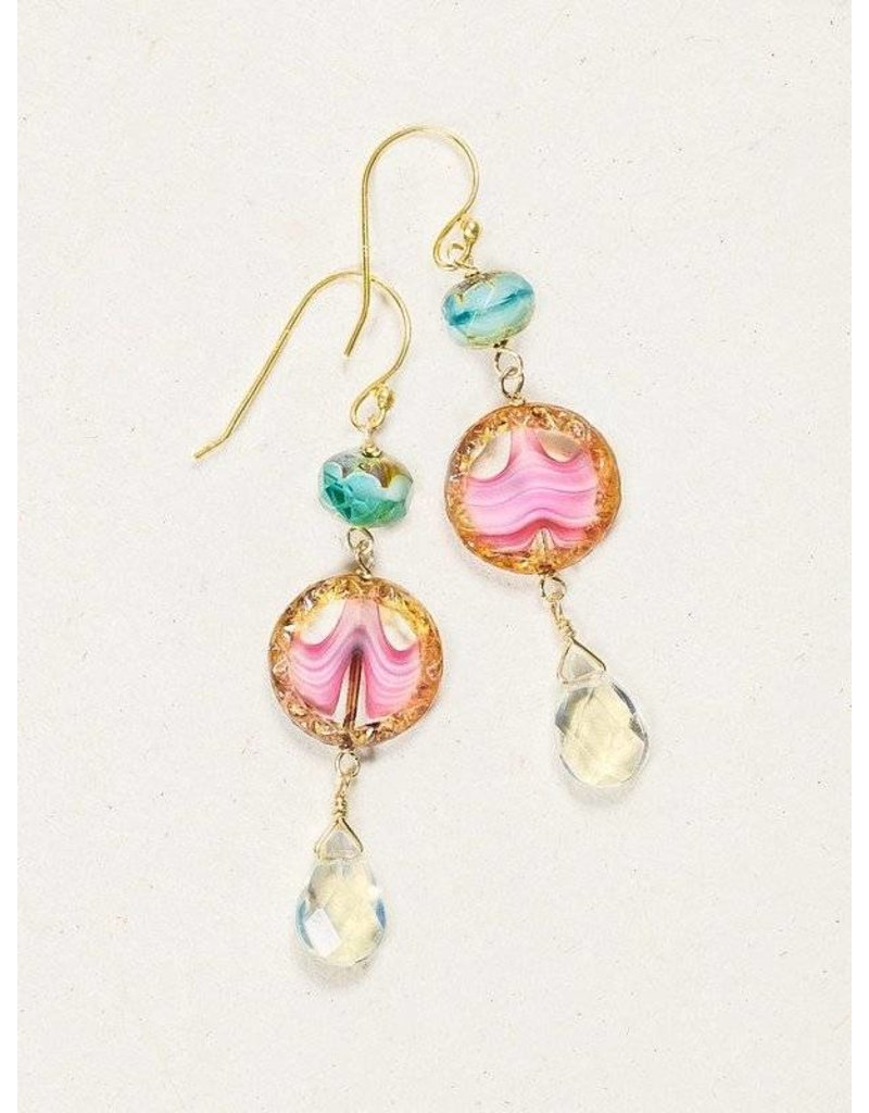 Holly Yashi Watermelon Clementine Earrings