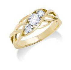 Toby Pomeroy 14kt Gold Triana Ring