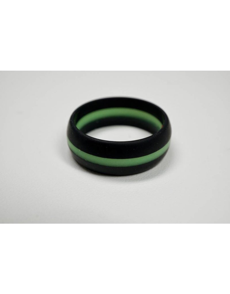 Tough Love Rings Tough Love Silicone Ring-Green Stripe