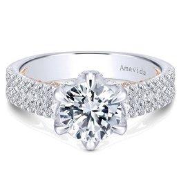 Amavida 18k White/Rose Gold Engagement Ring