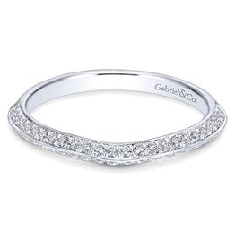 Gabriel & Co. 14k  Curved Wedding Band