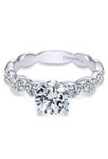 Gabriel & Co. Rowan - 14k White Gold Round Straight Engagement Ring