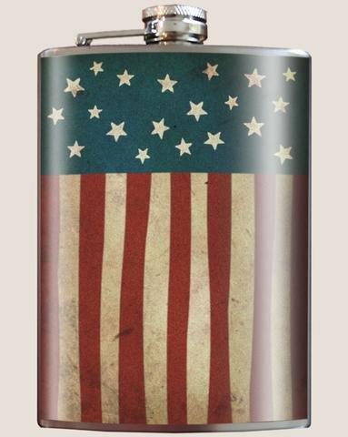 T & M Trixie & Milo US Flag Flask