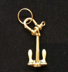 Brass Anchor Keychain