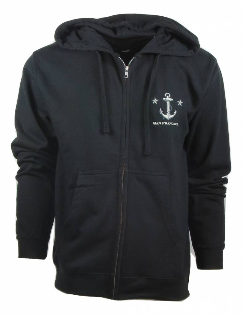 Frank's Fisherman Anchor Zipper Hoodie