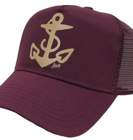 Sailor Jerry Sailor Jerry Anchor Snap Back Trucker Cap - Burgundy
