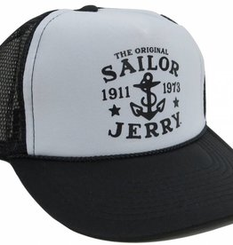 Sailor Jerry Sailor Jerry Original Snap Back Trucker Cap - Black & White