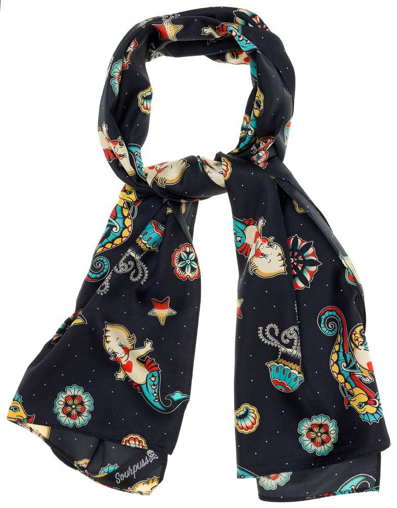 Sourpuss Sourpuss Bad Girl Kewpie Mermaid Scarf