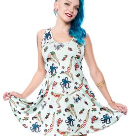 Sourpuss Sourpuss Skater Dress Divers Tattooed