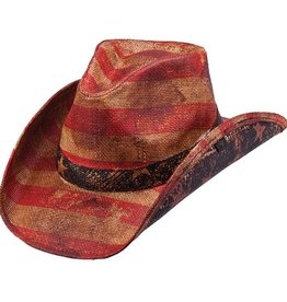 Peter Grimm PG Patriot Cowboy Hat - Tea Stained