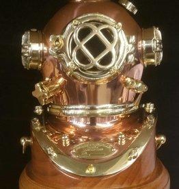 Mark V Copper & Brass Diving Helmet - Table Top Model
