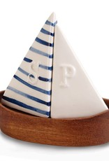 Mudpie SAILBOAT SALT AND PEPPER SHAKER