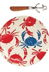 Mudpie ANCHOR & CRAB HAND-STAMPED CHEESE SETS