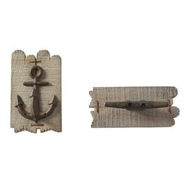 Mudpie LAKE WOOD WALL HOOKS