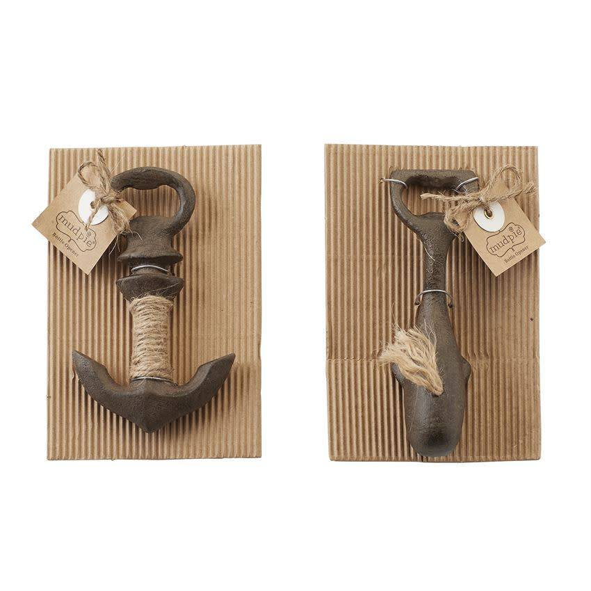 Mudpie WHALE & ANCHOR BOTTLE OPENERS