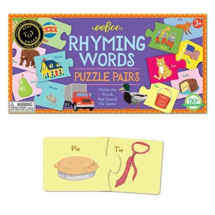 EeBoo eeBoo Rhyming Words - Puzzle Pairs