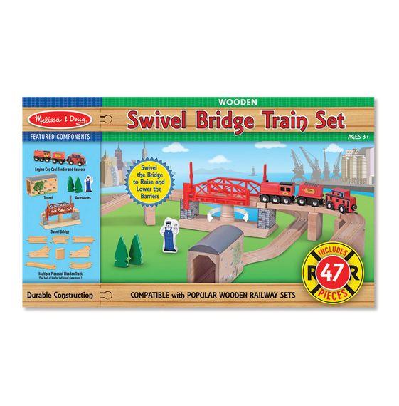 Melissa & Doug Melissa & Doug Train Set - Swivel Bridge