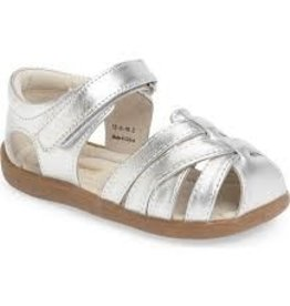 See Kai Run See Kai Run Camila - Silver, Kids Sizes