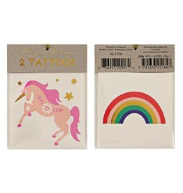 Meri Meri Meri Meri Unicorn & Rainbow Tattoos