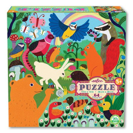 EeBoo Busy Meadow 64 Piece Puzzle