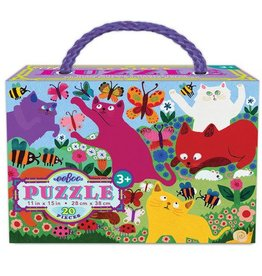 EeBoo Crazy Kittens 20 Piece Puzzle