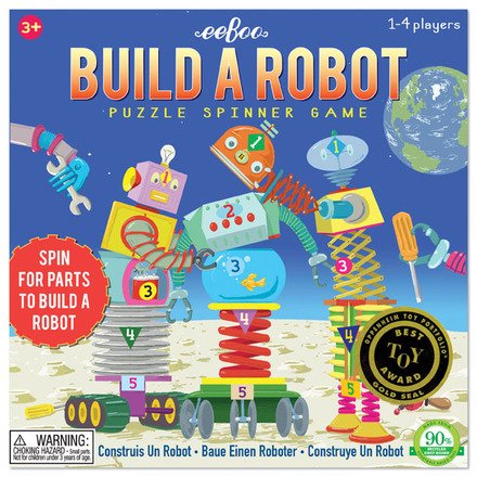 EeBoo Build A Robot Spinner Puzzle Game