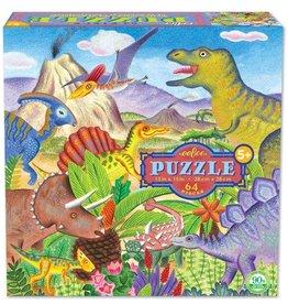 EeBoo eeBoo Dinosaur Island 64 Piece Puzzle
