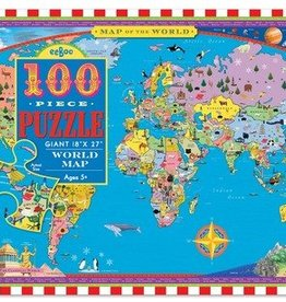 EeBoo eeBoo World Map 100 pc Puzzle