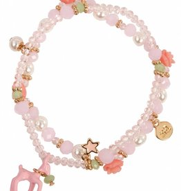 Great Pretenders Rose Deer Charm Bracelet (boxed)