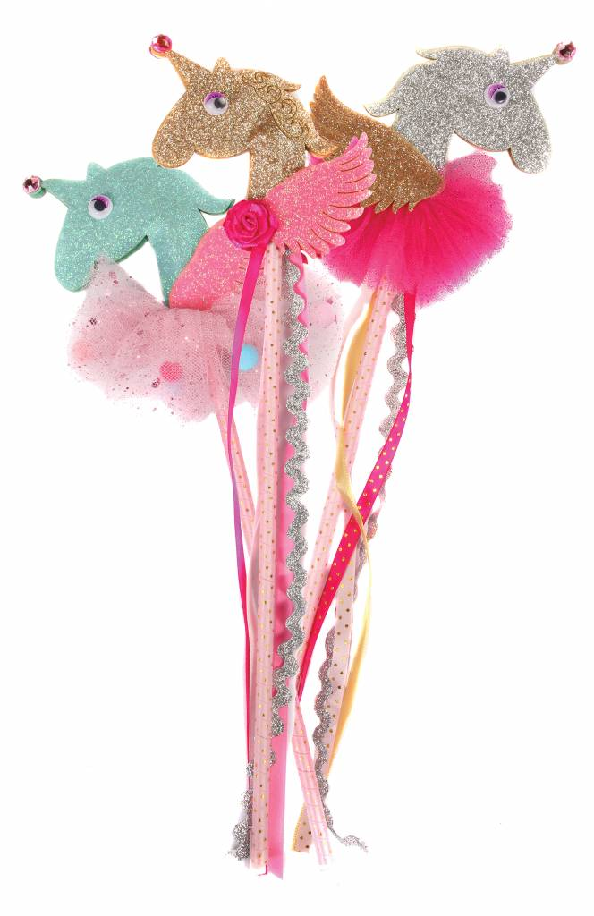 Great Pretenders 3D Unicorn Wand Assortment, Pink/Gold