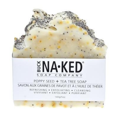 Buck Naked Soap Company Poppy Seed & Tea Tree Soap