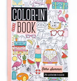 Ooly Color-in' Book- Travel Size- Retro Summer
