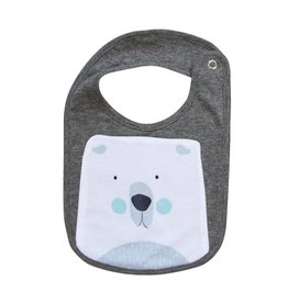 Mister Fly Polar Bear Animal Face Bib