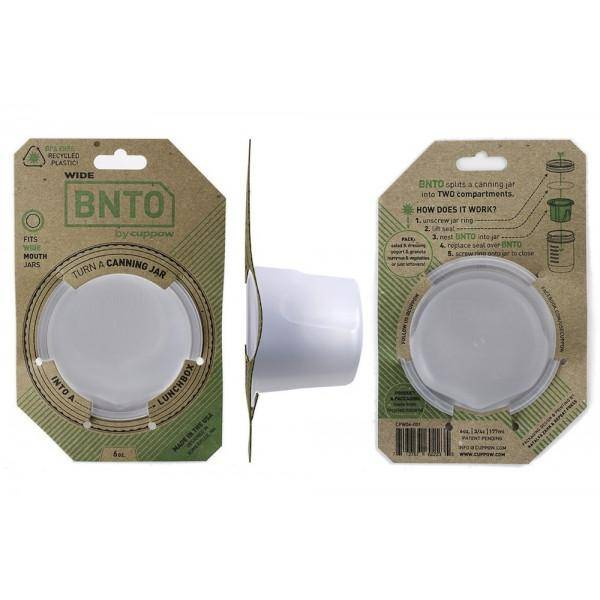 Cuppow BNTO Lunchbox adapter Clear