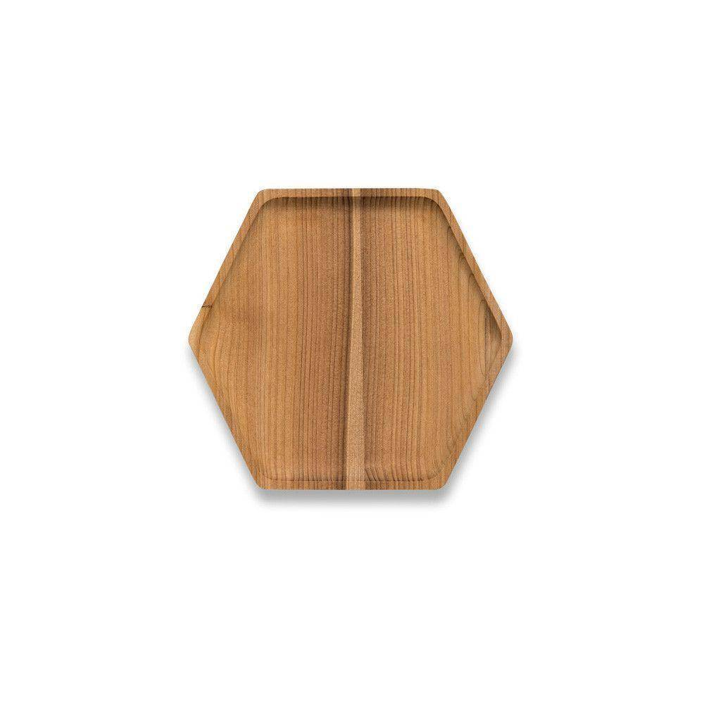 Bambu Bambu Cedar Wood Hex Tray Small