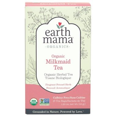 Earth Mama Angel Baby Earth Mama Organics Milk Maid Tea, 16 bags