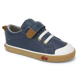 See Kai Run See Kai Run Stevie II Navy Leather Shoes - Kids Sizes