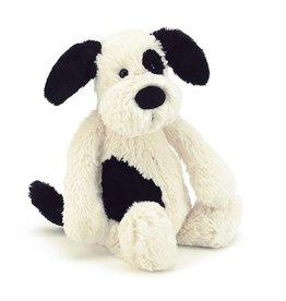 "Jellycat Jellycat Bashful Black & Cream Puppy Medium 12"""